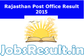 Rajasthan Post Office Result 2015