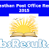 Rajasthan Post Office Result 2015 MTS GDS Merit List