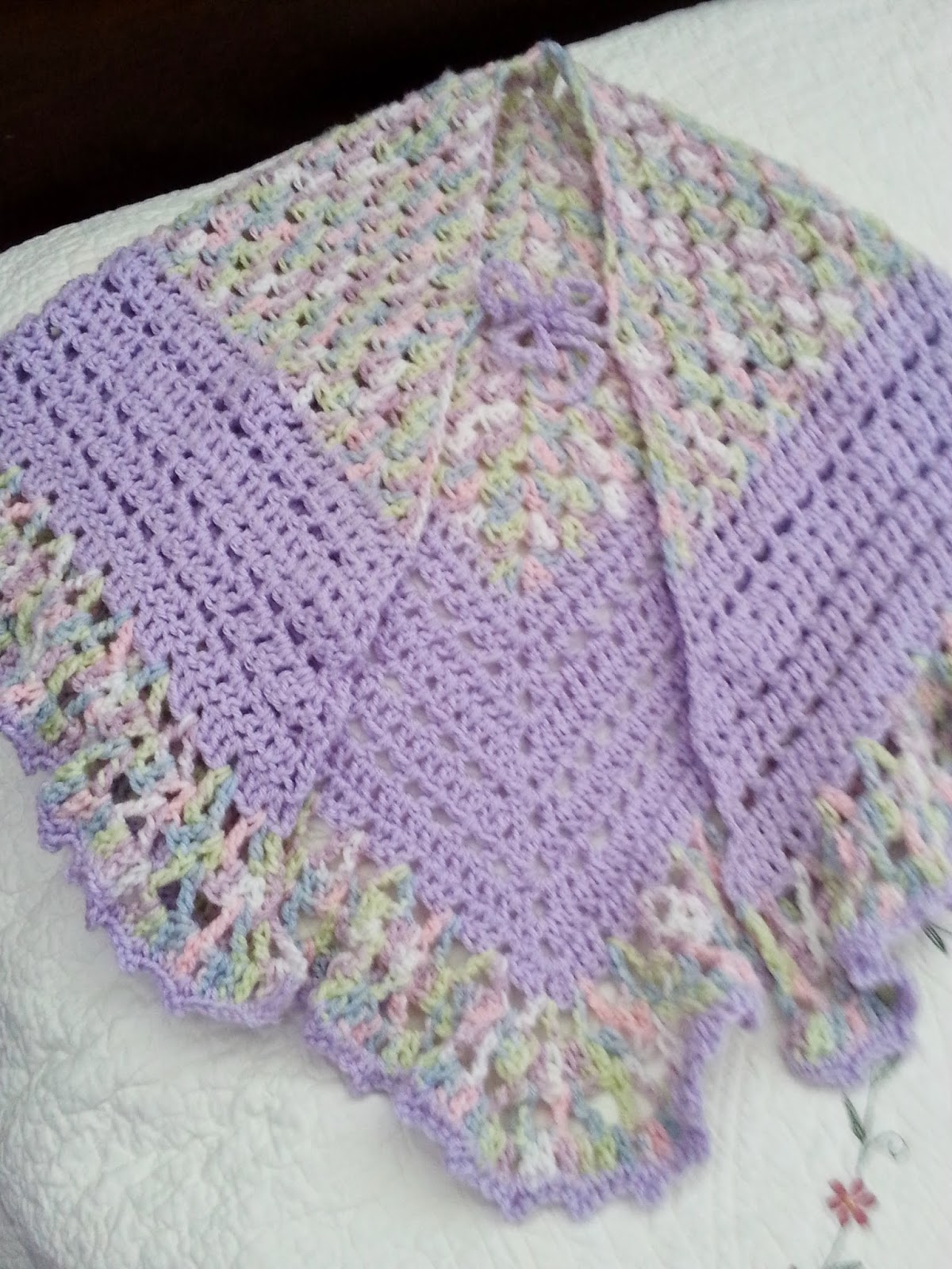 Crochet Pattern For Nursing Shawl : Yarns