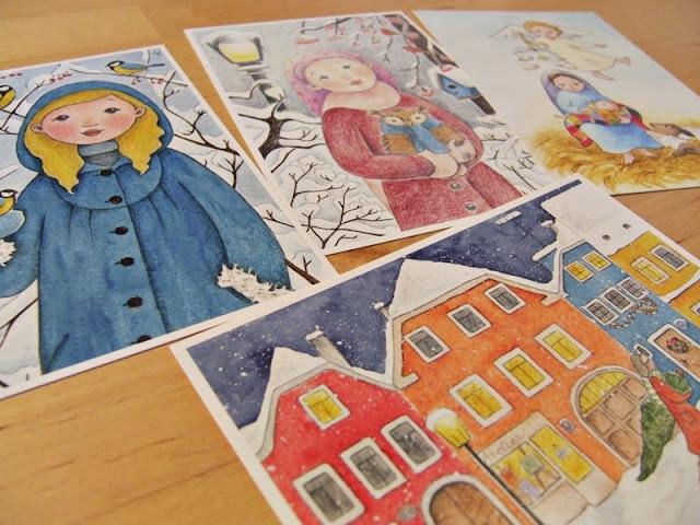 vánoční pohlednice dětská