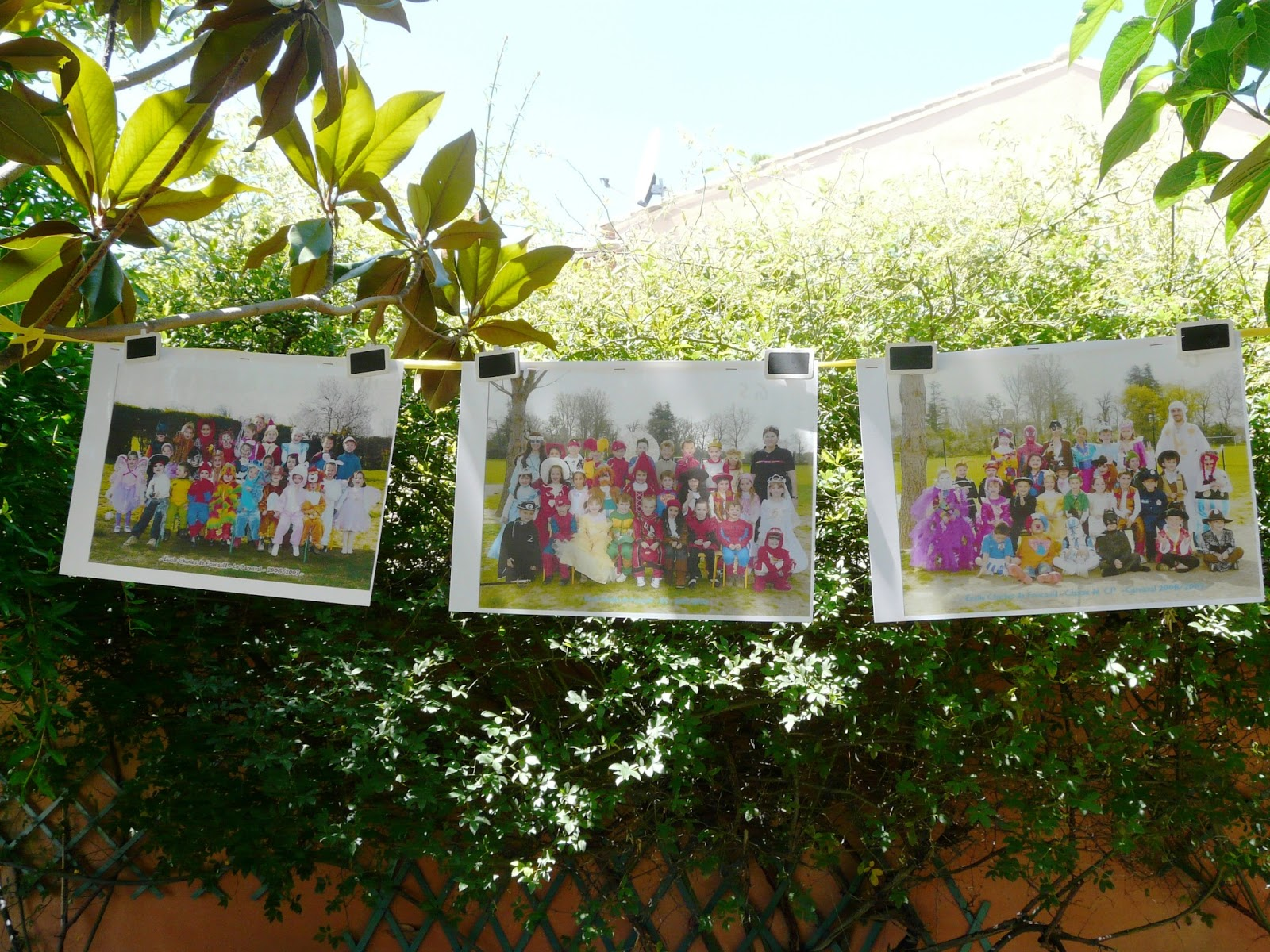 photos de classe guirlande