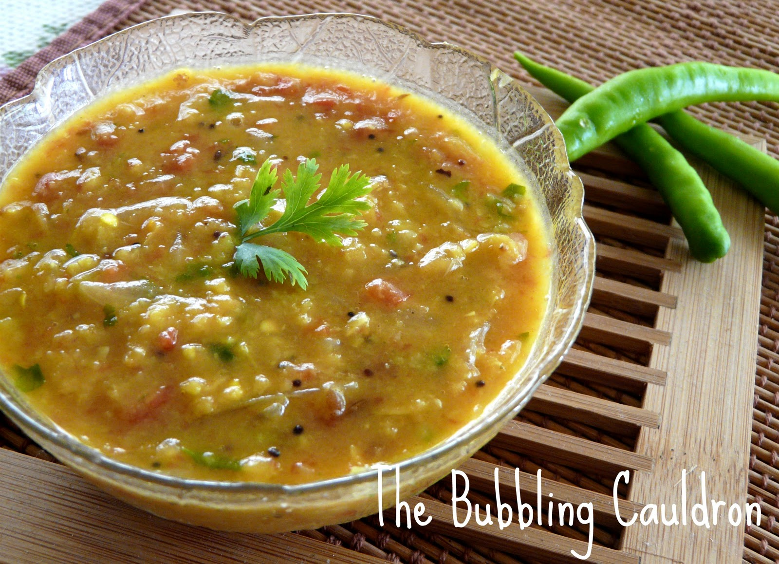 The bubbling cauldron pappu pulusu andhra food series for Andhra cuisine dishes