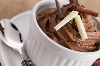 Receita Almoço de páscoa mousse de chocolate