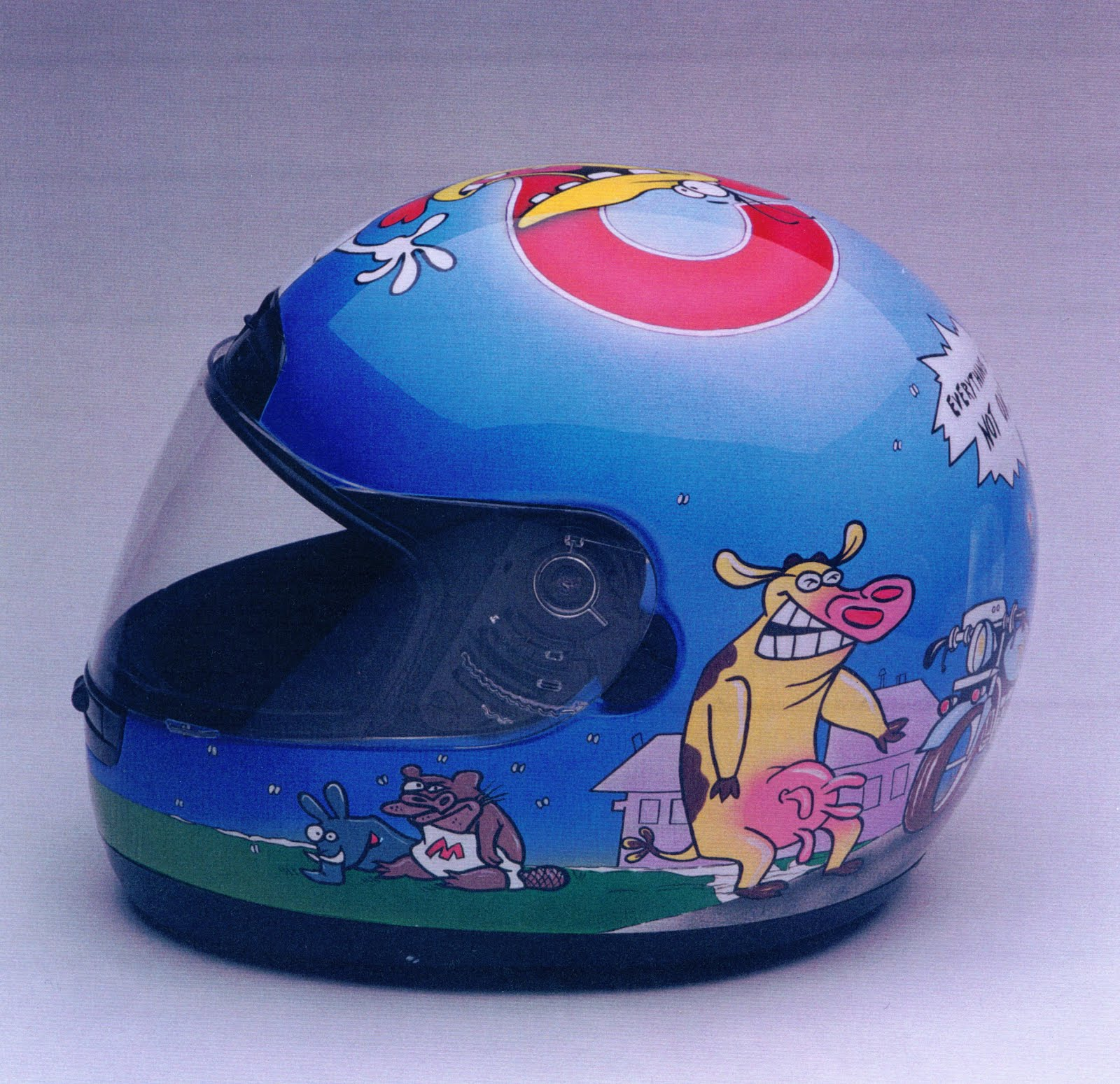 Cow & Chicken Helmet
