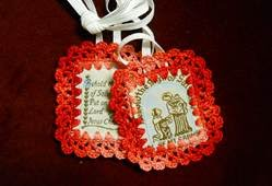 Brown Scapulars made by the Sisters