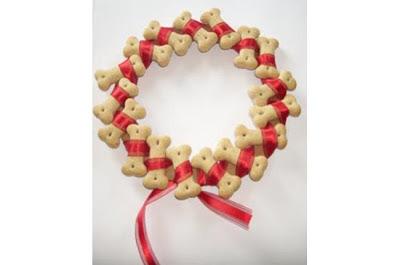 guirlanda de natal - biscoito canino