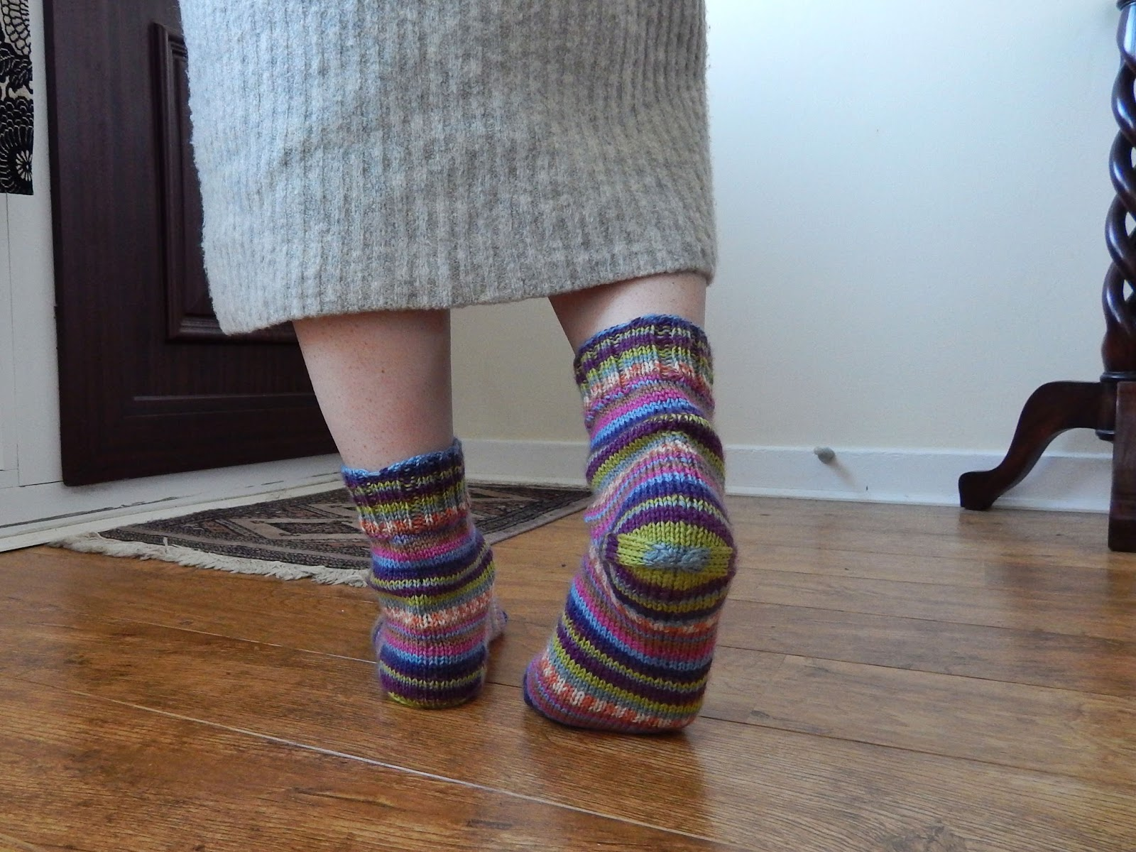 simple handknit socks