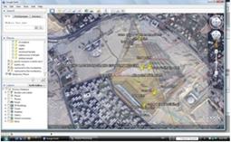 """إستخدام برنامج """"جوجل إرث"""" في عمليات المراجعة المساحية للتأكد من تواصل ضلعي الزاوية الثانية مع المواقع اليهودية"""