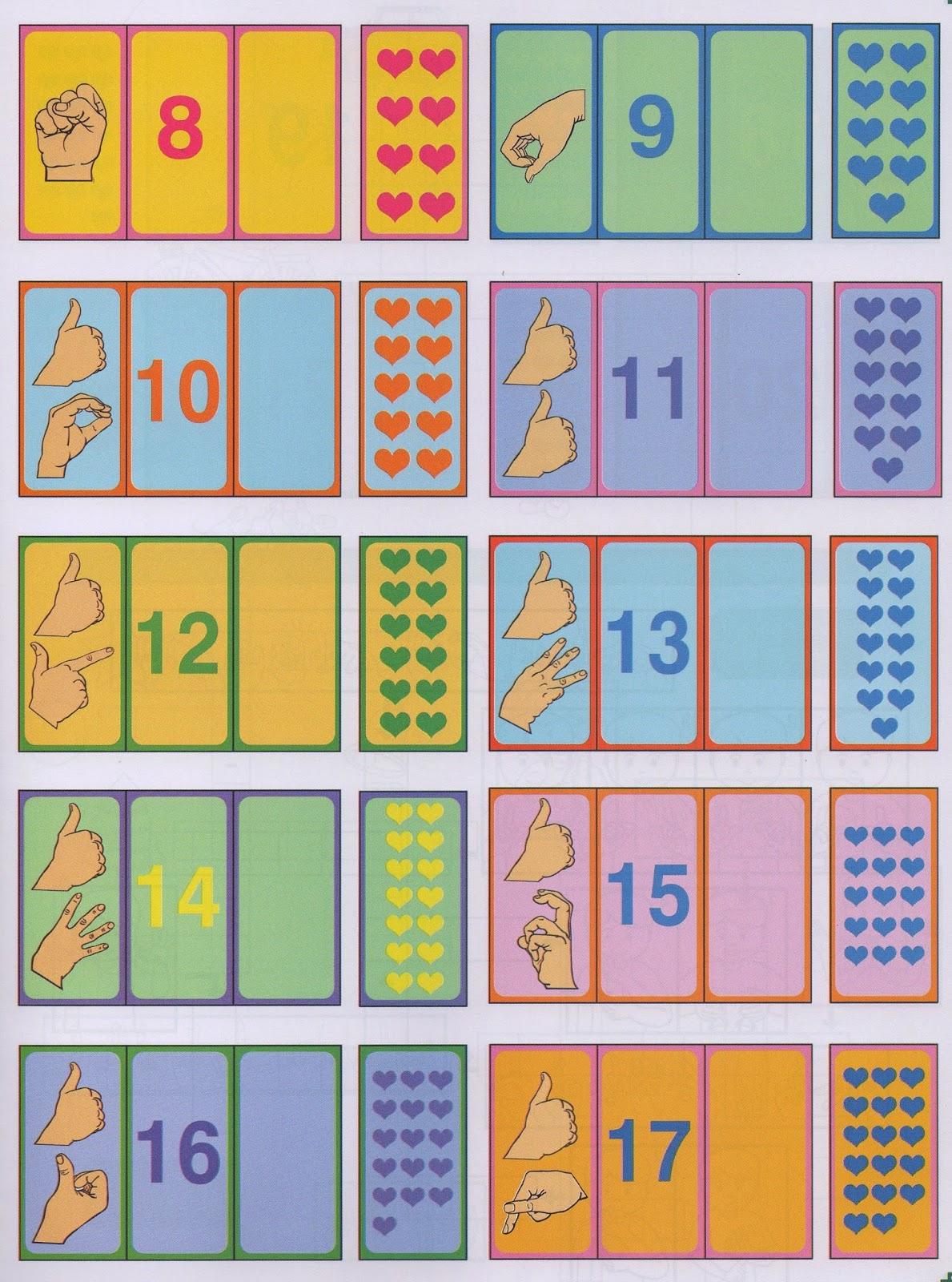 Idéias Para ensinar Surdos: Jogo Números sinal quantidade em Libras #B28C19 1189 1600
