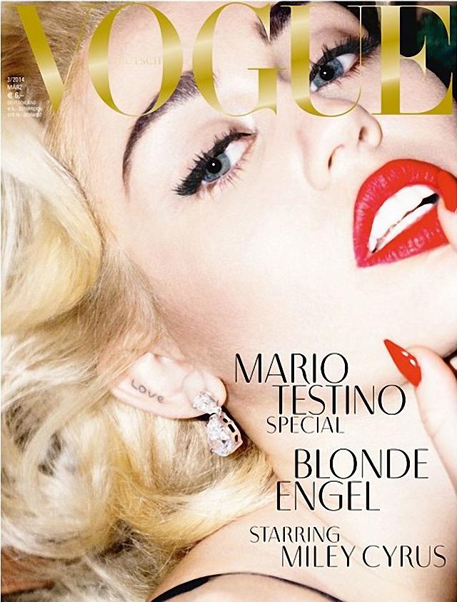 Miley Cyrus sera la nueva portada de Vogue Magazine marzo 2014