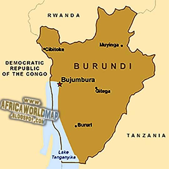 Burundi World Map and Information
