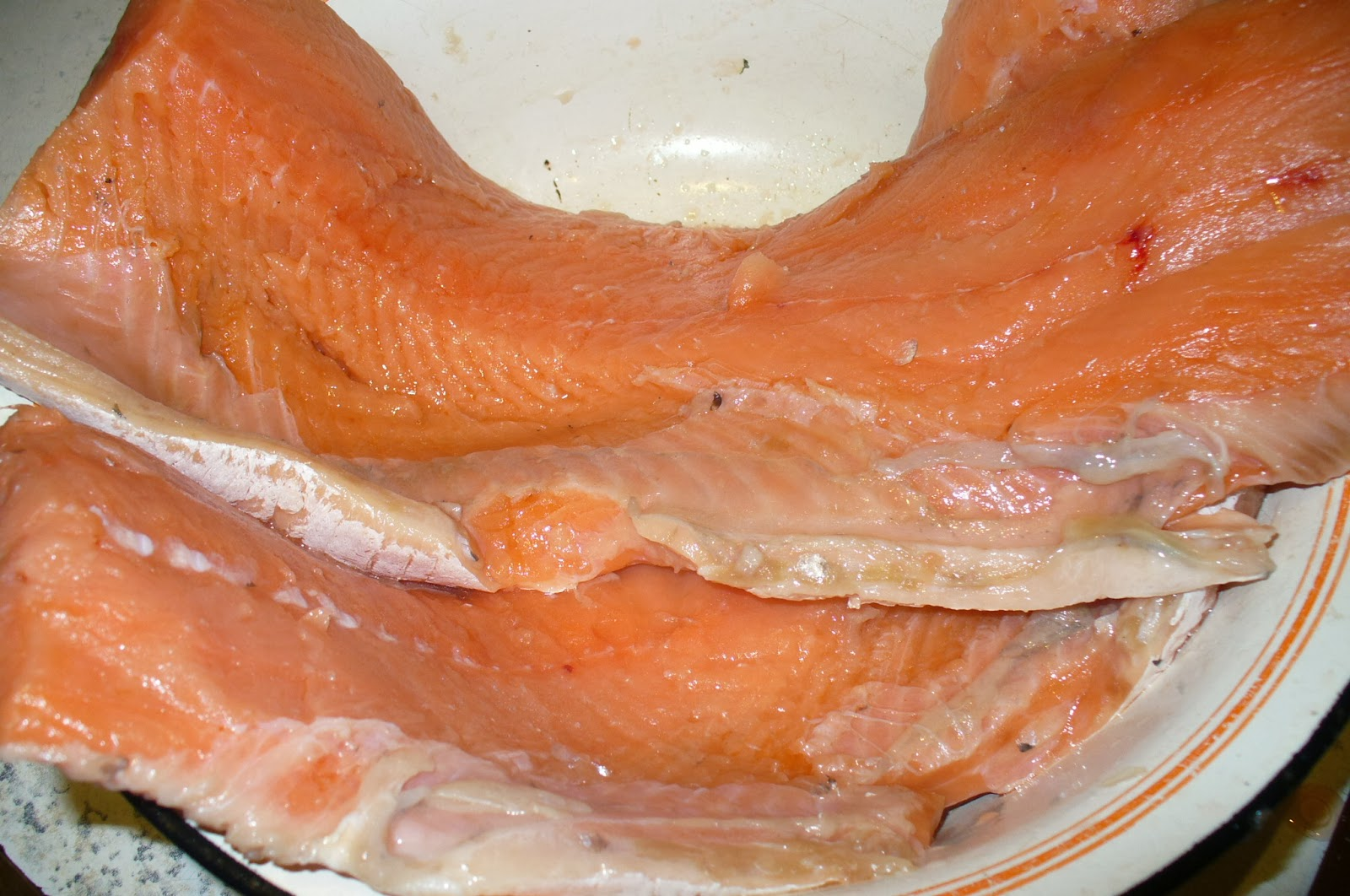 пласт семги для приготовления шашлыка