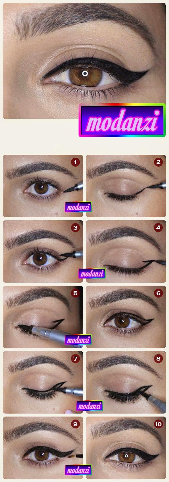 Kanatlı Eyeliner Nasıl Çekilir ? (Resimli Anlatım )