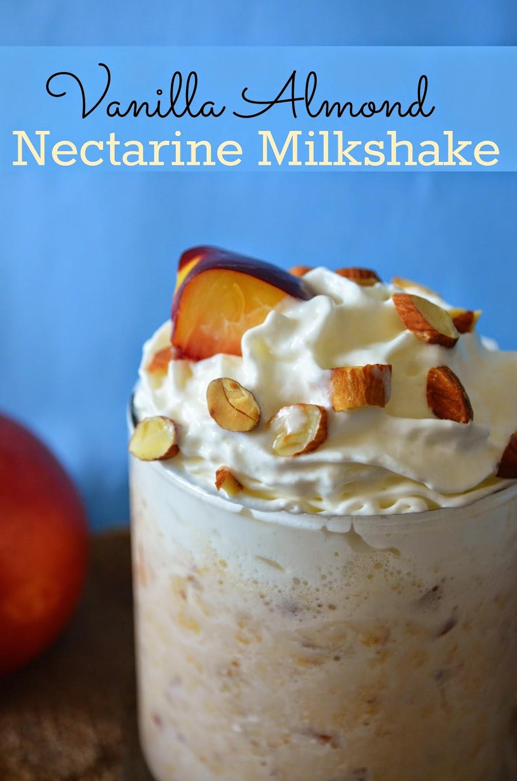 Vanilla Almond Nectarine Milkshake
