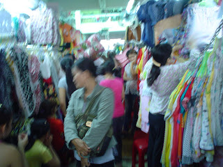 Genuine branded cloth in markets in Vietnam