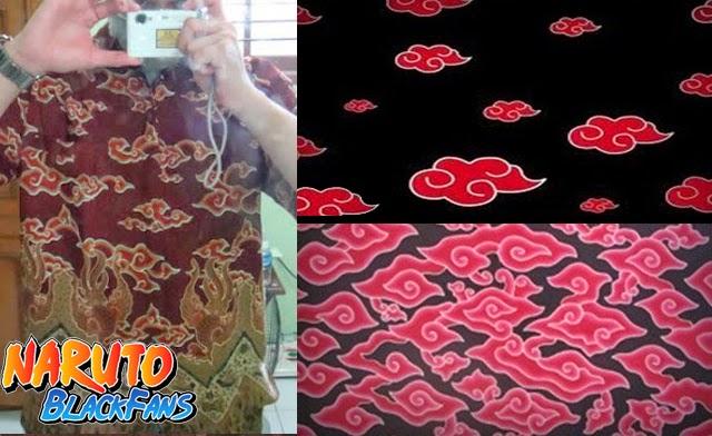 jubah akatsuki batik cirebon mega mendung