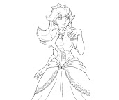 #5 Princess Peach Coloring Page