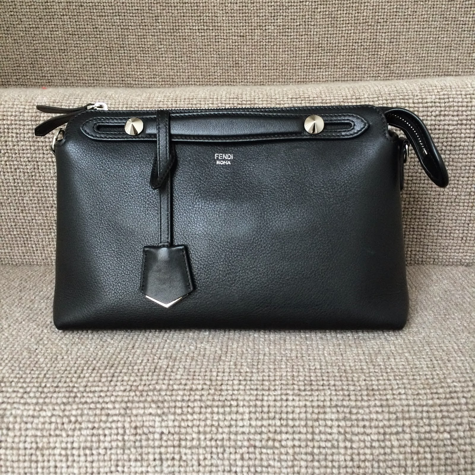 Black Fendi By The Way piccolo (smaller of two sizes offered) bag.  Dimensions fea2dc0b58230