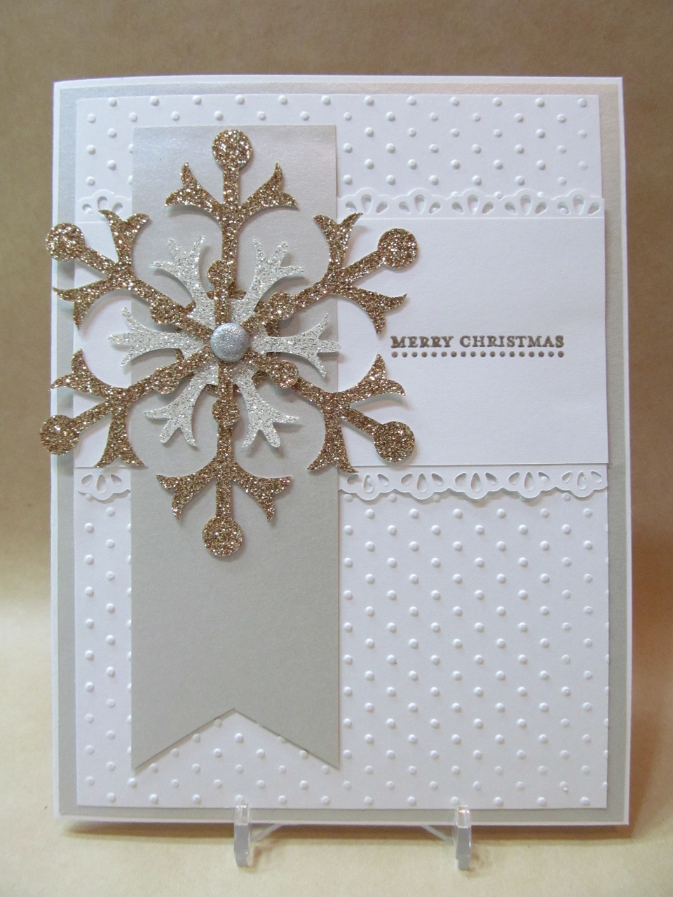 Savvy handmade cards snowflake merry christmas card for Handmade christmas cards