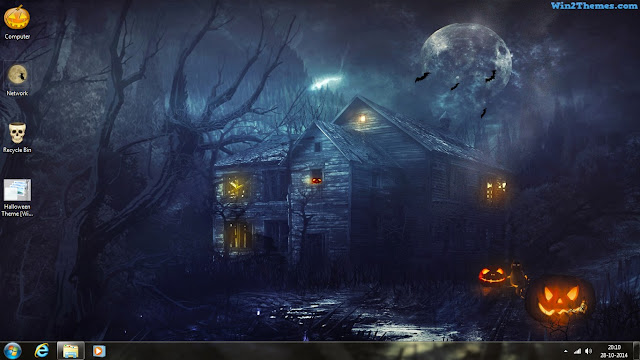 halloween theme for windows 7 and 8 consists of 10 hi res wallpapers cutom icons and sounds to make this theme more enjoyable - Windows 7 Halloween Theme