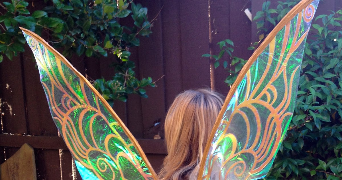 Fire Pixie Happenings Cellophane Tinkerbell Fairy Wings