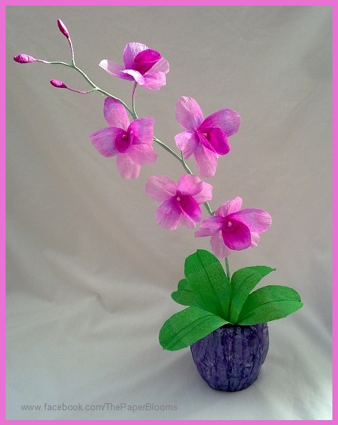 crafty little beanut   crepe paper orchid
