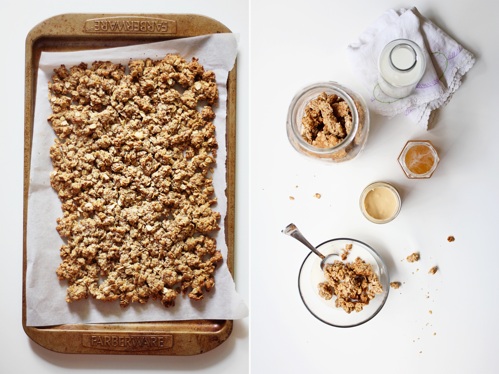 eat sleep cuddle.: crush of the week // peanut butter + honey granola.