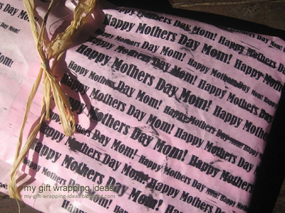 Homemade Mothers Day Wrapping