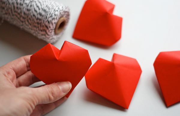 3d origami hearts how about orange