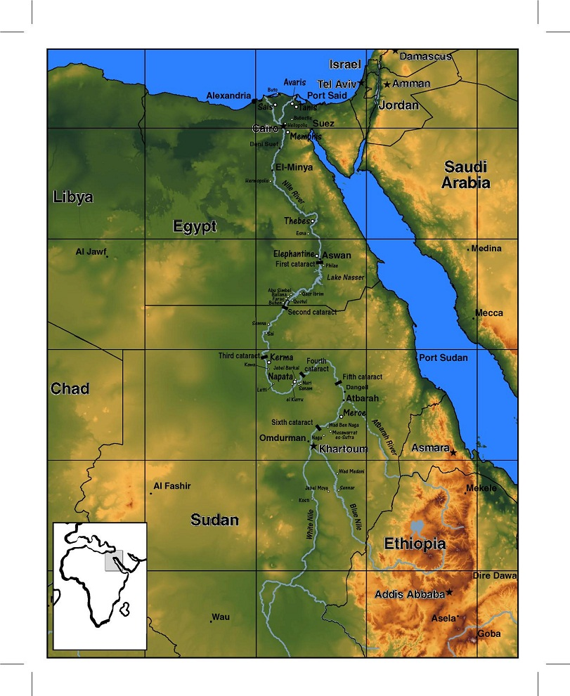 Physical Map Of Egypt My Blog - Map of egypt online