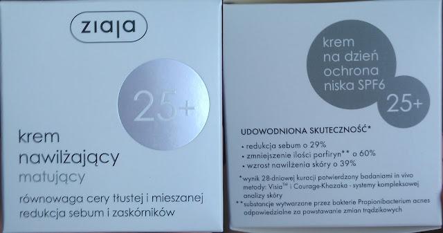 Kultowy kremik w naszej kosmetyczce - Ziaja 25+ nawilżający,matujący