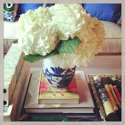 Use greenery to add dimension to style your coffee table