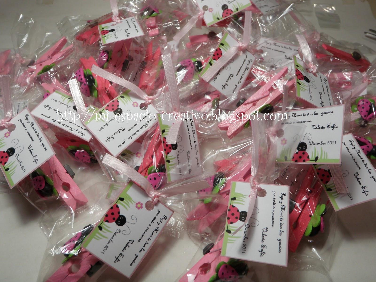 212   Pinzas Imantadas Para Nacimiento Mariquitas En Color Rosa
