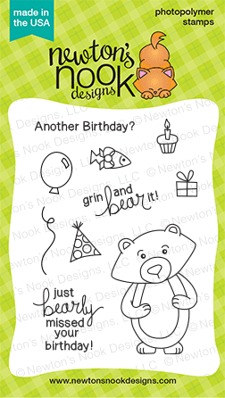 Winston's Birthday | 3x4 Stamp Set | Newton's Nook Designs