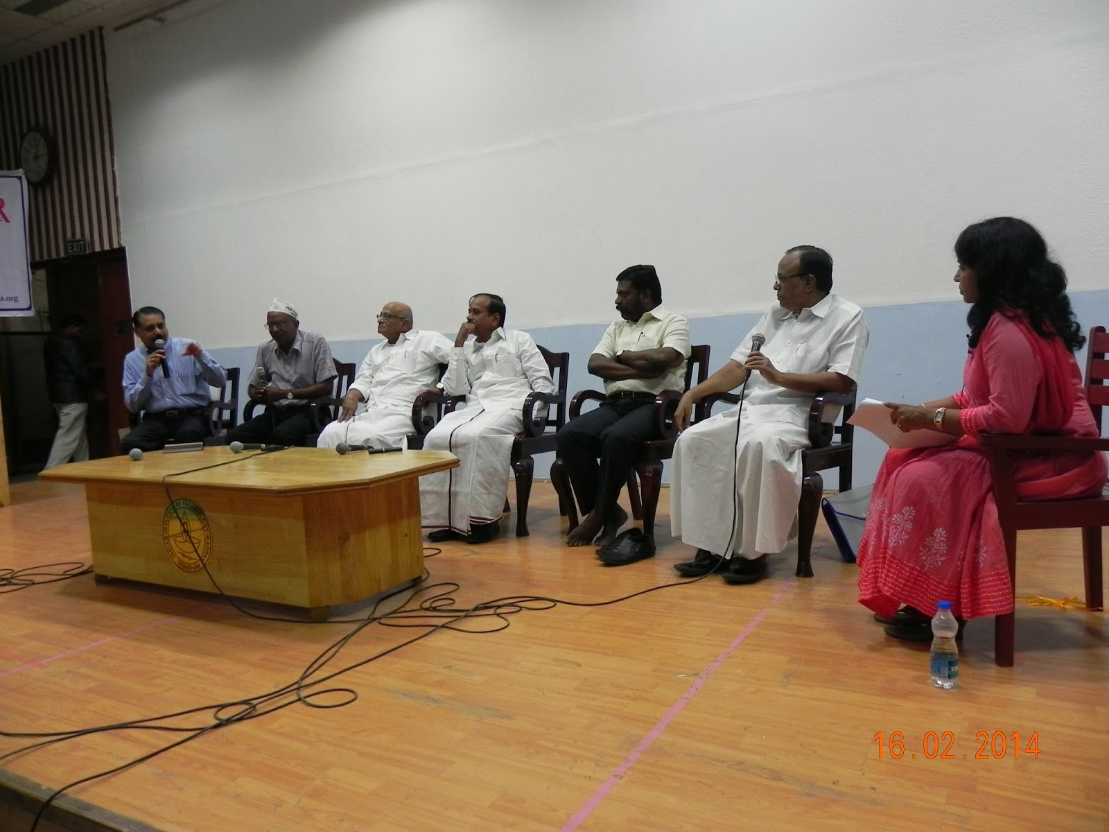 (L to R) Maalan, David,  T K Rangrajan MP,  H Raja, Thol Thirumavalavan MP,  Gobanna and Bhanu Gomes
