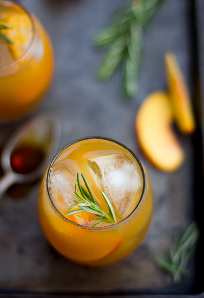 The Bojon Gourmet: Rosemary Peach Maple Leaf Cocktail