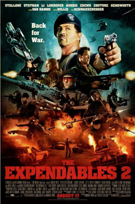 The Expendables 2 Retro Poster