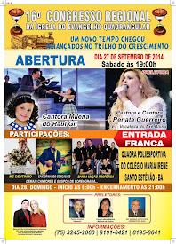 16° Congresso Regional de Santo Estevão-BA.