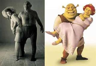 shrek da vida real, Maurice Tillet, após adquirir uma doença rara, teve partes do seu corpo se deformando e lhe dando aparência similar ao famoso ogro dos cinemas.