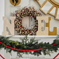 "DIY ""Noel"" display from The Chronicles of Home"