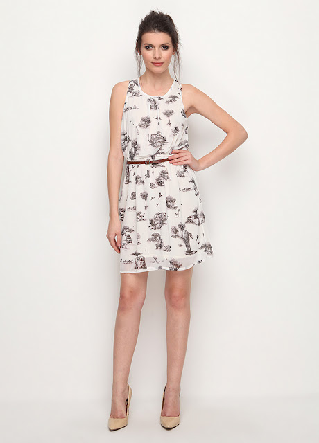 desenli kısa yazlık elbise