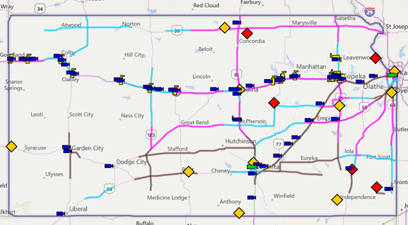 Kansas Transportation Current Road Conditions – Road Conditions Map