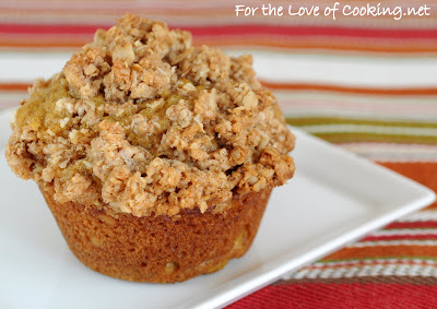 Pumpkin Muffins with Oatmeal Streusel Topping