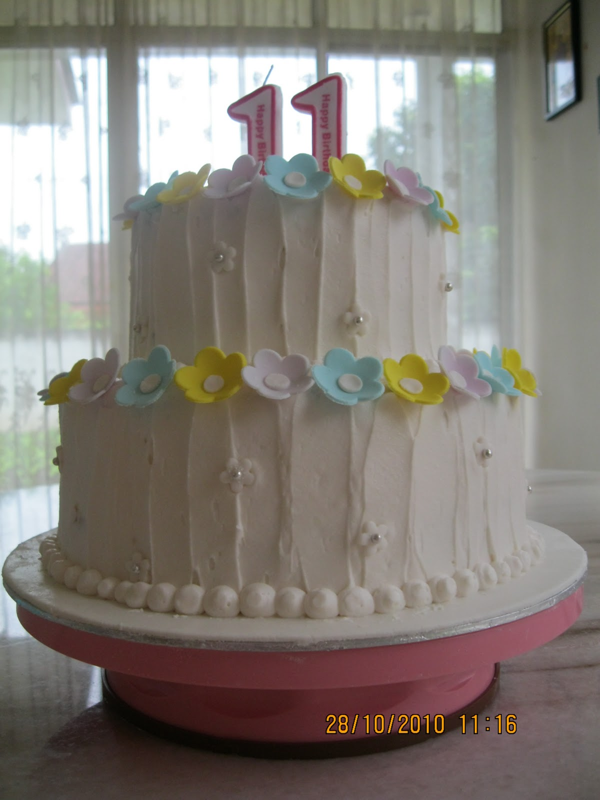 Fun Cakez Princezz 11th Birthday Cake 2 Tier Carrot Cake Covered