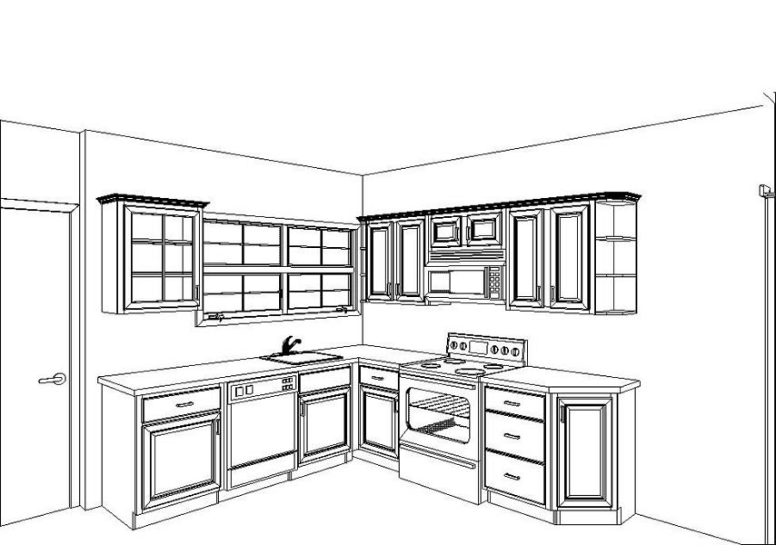 Kitchen plans pictures of kitchens for Free kitchen design layout templates