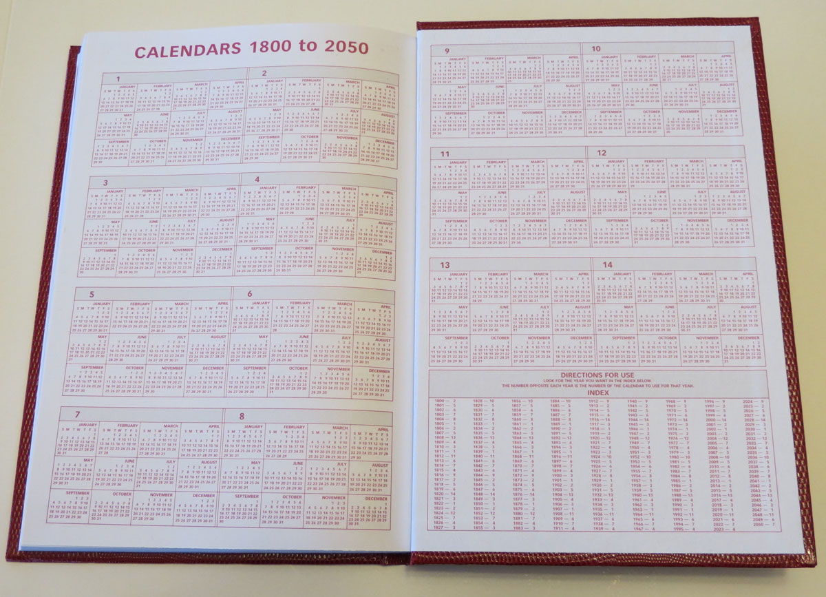 Perpetual Calendar 1800 To 2050 : Supply cabinet chronicles october