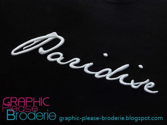broderie graphic please marquage sur textile broderie pour marque de v tement. Black Bedroom Furniture Sets. Home Design Ideas