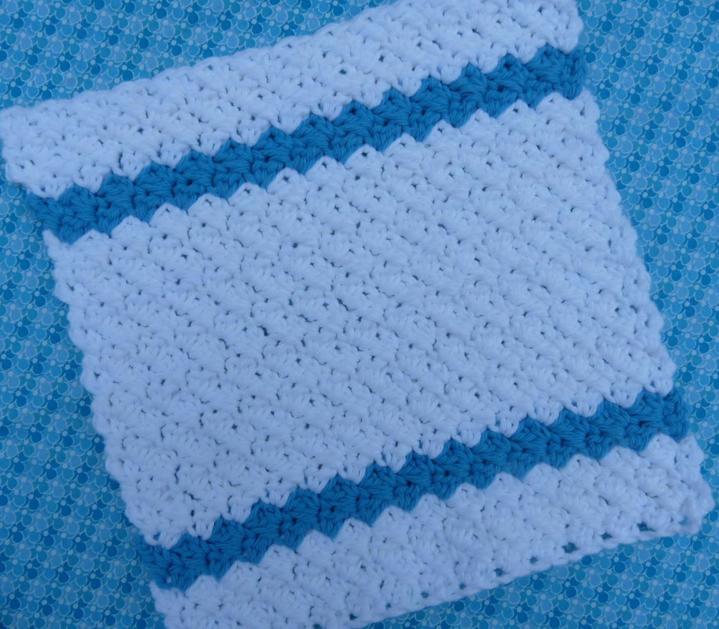 Whiskers & Wool: Simple Stripes Dishcloth - Free Pattern