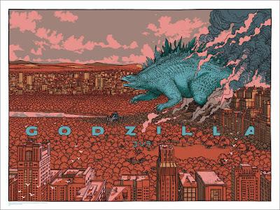 Godzilla Variant Screen Print by Jared Muralt