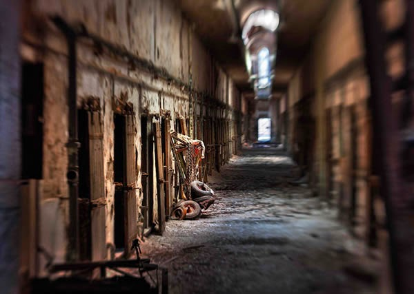 Eastern State Penitentiary - haunted place ranked 4th